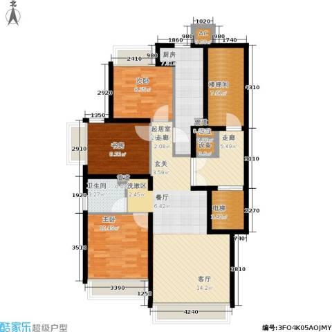 龙湖·时代天街3室0厅1卫1厨98.00㎡户型图