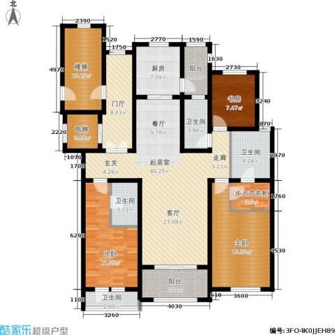 新城碧翠3室0厅4卫1厨167.00㎡户型图