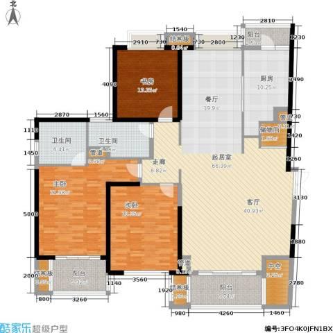 黄浦逸城3室0厅2卫1厨187.00㎡户型图