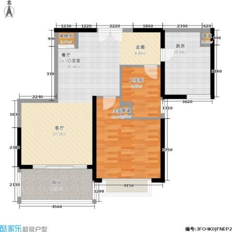 黄浦逸城1室0厅1卫1厨88.00㎡户型图
