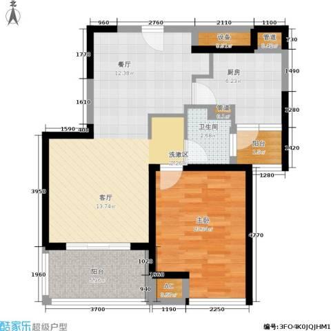 盘古天地1室0厅1卫1厨68.00㎡户型图