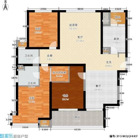 盘古天地3室0厅2卫1厨147.00㎡户型图