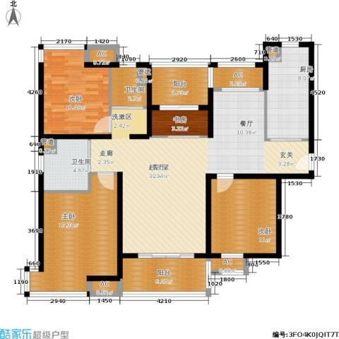 盘古天地4室0厅2卫1厨128.00㎡户型图