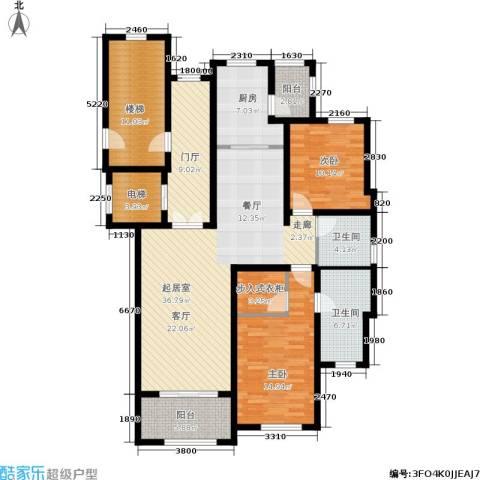 新城碧翠2室0厅2卫1厨136.00㎡户型图