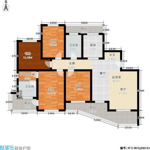 棕榈滩海景城4室0厅2卫1厨153.00㎡户型图