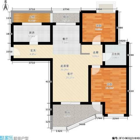 棕榈滩海景城2室0厅1卫1厨90.00㎡户型图