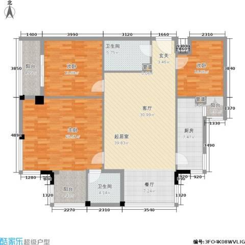 紫雁朗庭3室0厅2卫1厨115.39㎡户型图