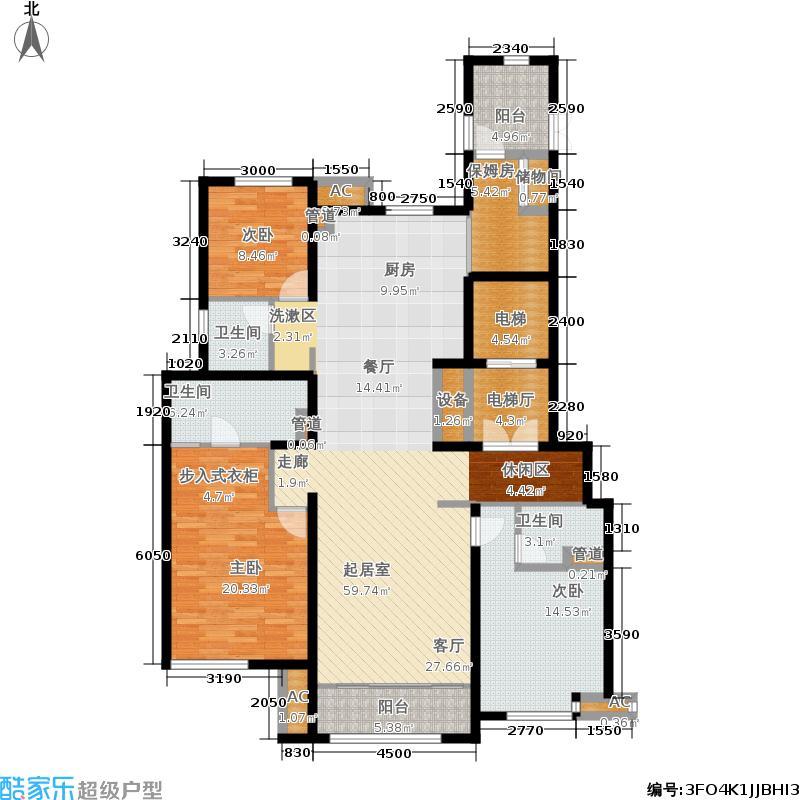中建国熙台167.00㎡D-1户型3室2厅