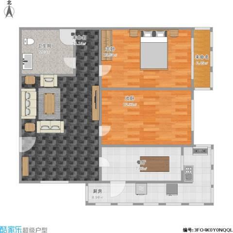 桃园公寓2室1厅1卫1厨102.00㎡户型图