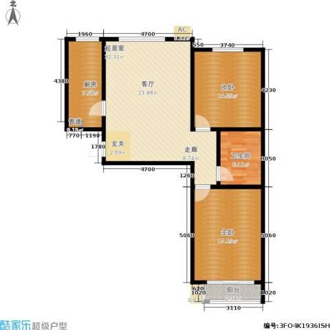 博鑫翰城2室0厅1卫1厨112.00㎡户型图
