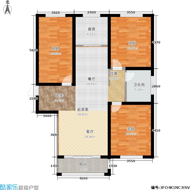盛世雅居3#楼标准层D2户型