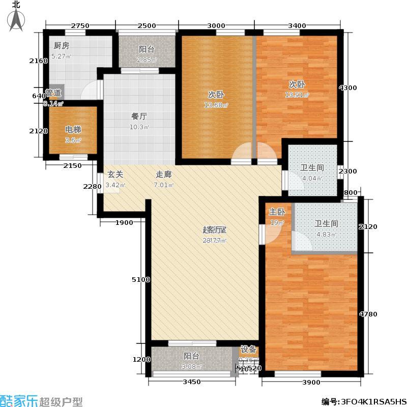 星河城(玺萌公馆)三期M-2户型3室2厅