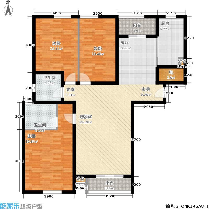 星河城(玺萌公馆)三期M-1户型3室2厅