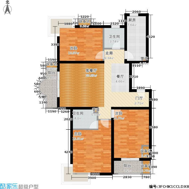 时代国际3#1单元A33室2户型