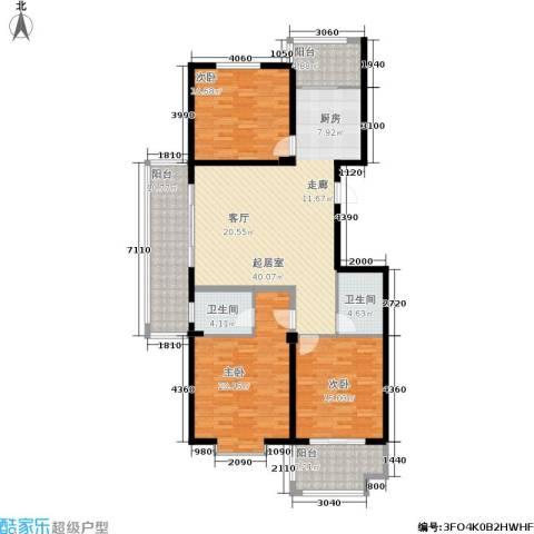 金邸山庄3室0厅2卫0厨137.00㎡户型图