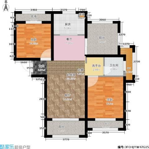 伟业迎春世家2室0厅1卫1厨95.00㎡户型图
