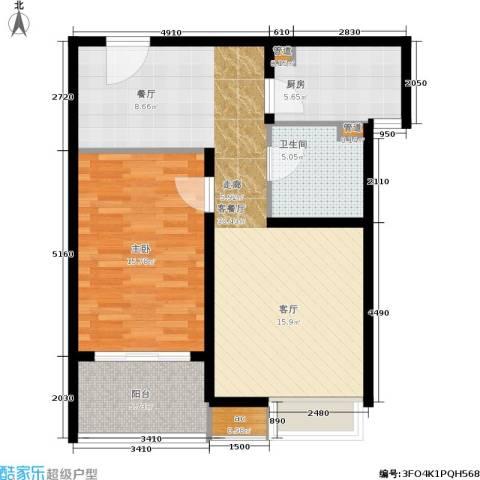 中信泰富又一城1室1厅1卫1厨73.00㎡户型图