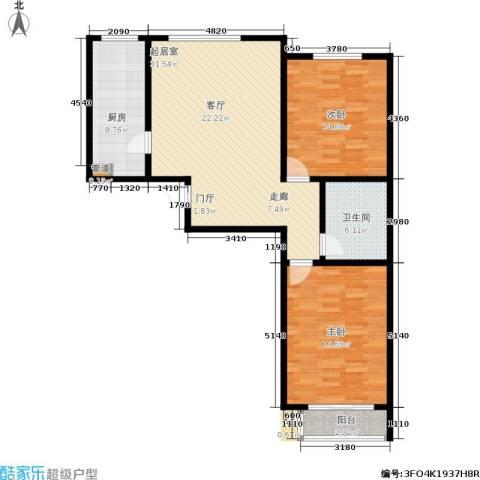 博鑫翰城2室0厅1卫1厨114.00㎡户型图