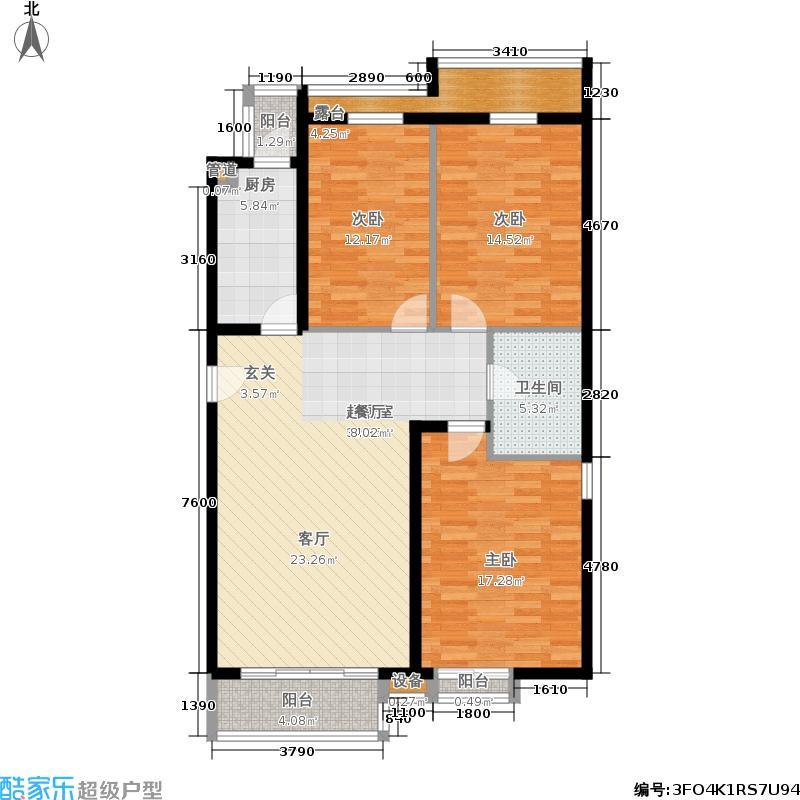 星河城(玺萌公馆)三期K-9户型3室2厅
