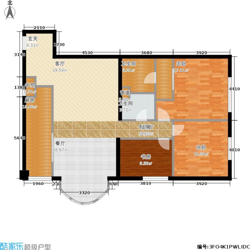 一瓶·四和院128.29㎡1号楼07户型3室2厅