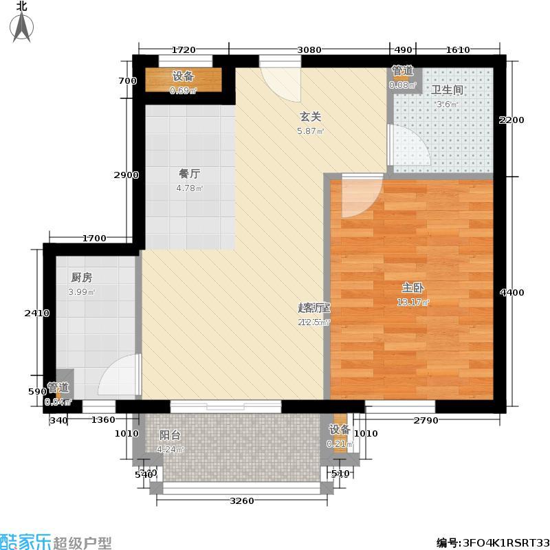 星河城(玺萌公馆)三期B-3(反)户型1室2厅