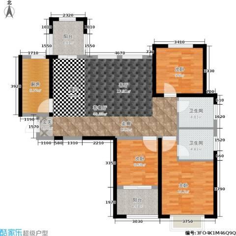 中建悦海和园3室1厅2卫1厨113.00㎡户型图