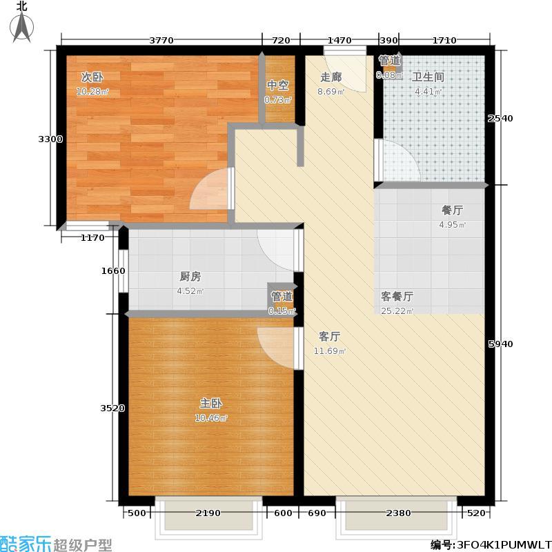 中国铁建国际城79.00㎡中国铁建·国际城4、5、7、9、13、15号楼2-5户型2室2厅