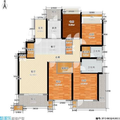 保利湖畔阳光苑4室1厅2卫1厨171.00㎡户型图