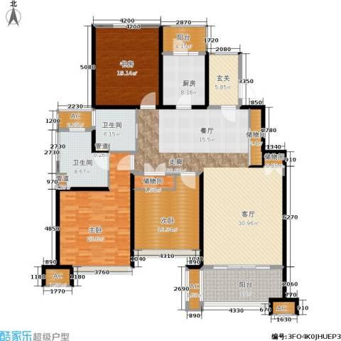 保利湖畔阳光苑3室0厅2卫1厨170.77㎡户型图