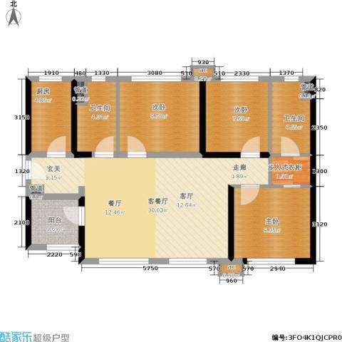 万科公园里3室1厅2卫1厨89.73㎡户型图