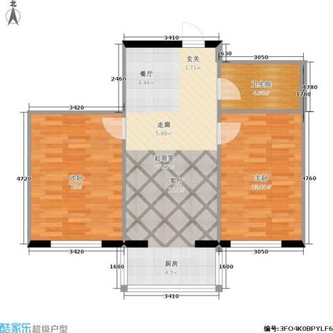龙腾金荷苑2室0厅1卫0厨66.00㎡户型图