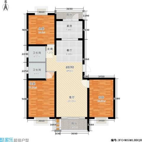 锦绣花木公寓3室0厅2卫1厨130.00㎡户型图