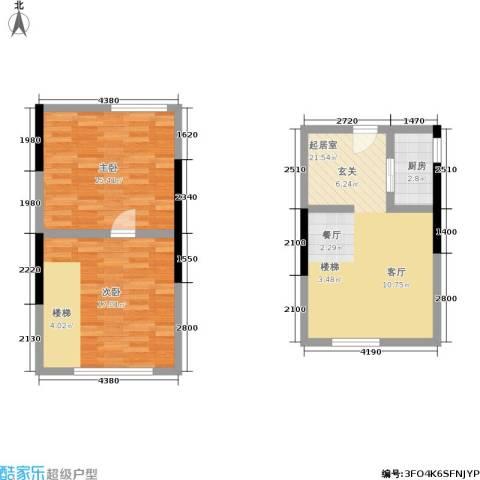 筑石派2室0厅0卫1厨81.00㎡户型图