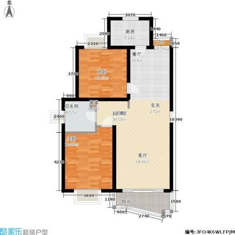 金地城2室0厅1卫1厨90.00㎡户型图