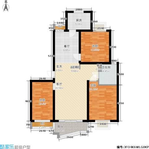 金地城3室0厅1卫1厨100.00㎡户型图