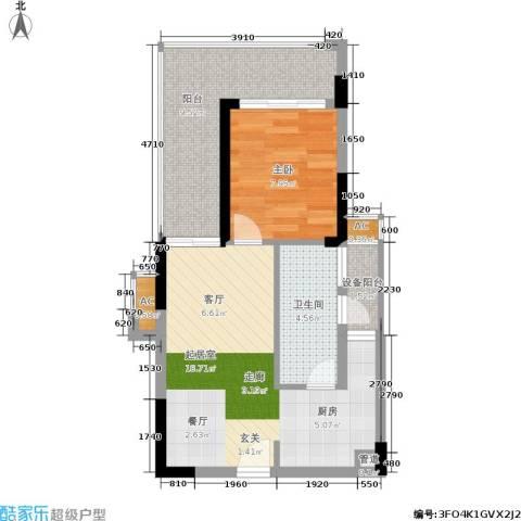 京海成・鹿港溪山1室0厅1卫0厨63.00㎡户型图