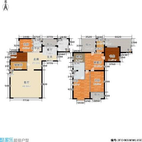 长宁新城4室0厅3卫1厨241.10㎡户型图