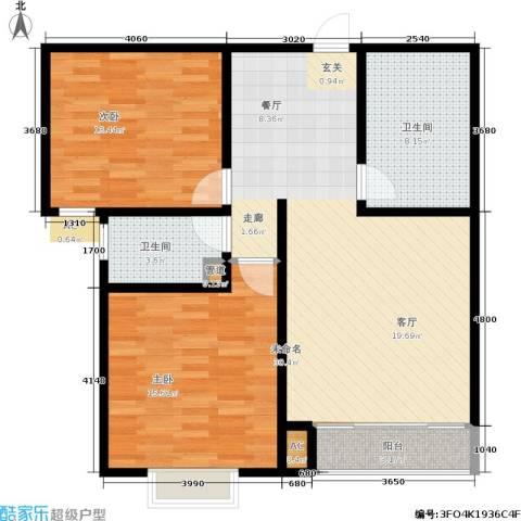 博鑫翰城2室0厅2卫0厨105.00㎡户型图
