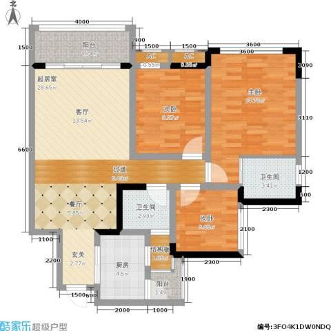 阳光英伦城邦3室0厅2卫1厨115.00㎡户型图