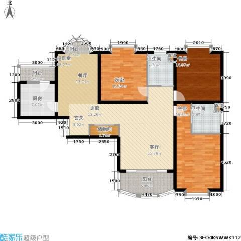 长宁新城3室0厅2卫1厨128.00㎡户型图