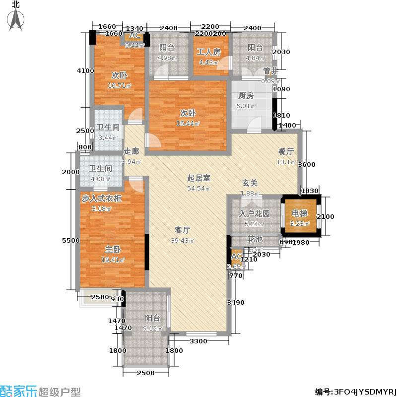 润丰水尚洋房组团145.00㎡一期花园洋房1/2/3/4/5/6幢标准层C3户型