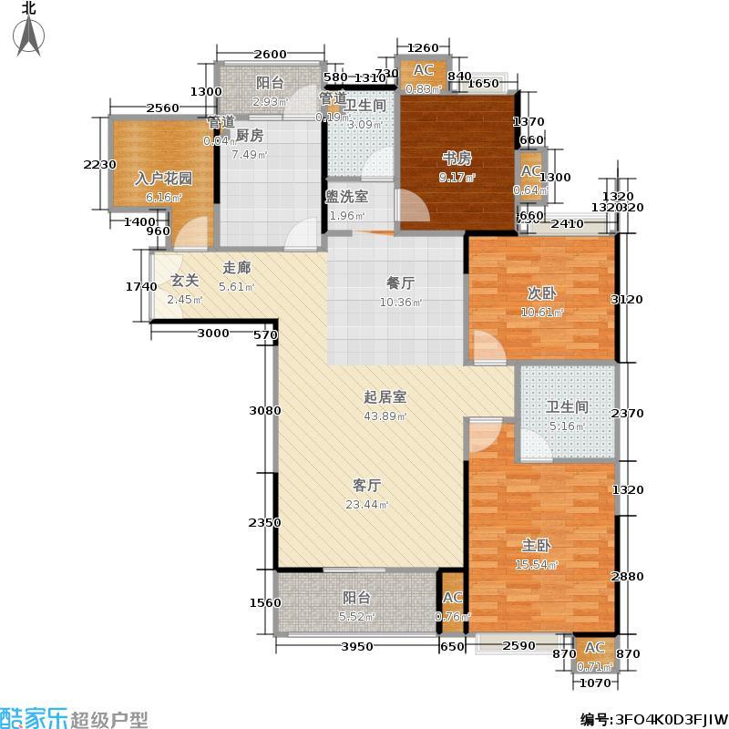 上海东韵126.07㎡一期9号楼L标准层户型