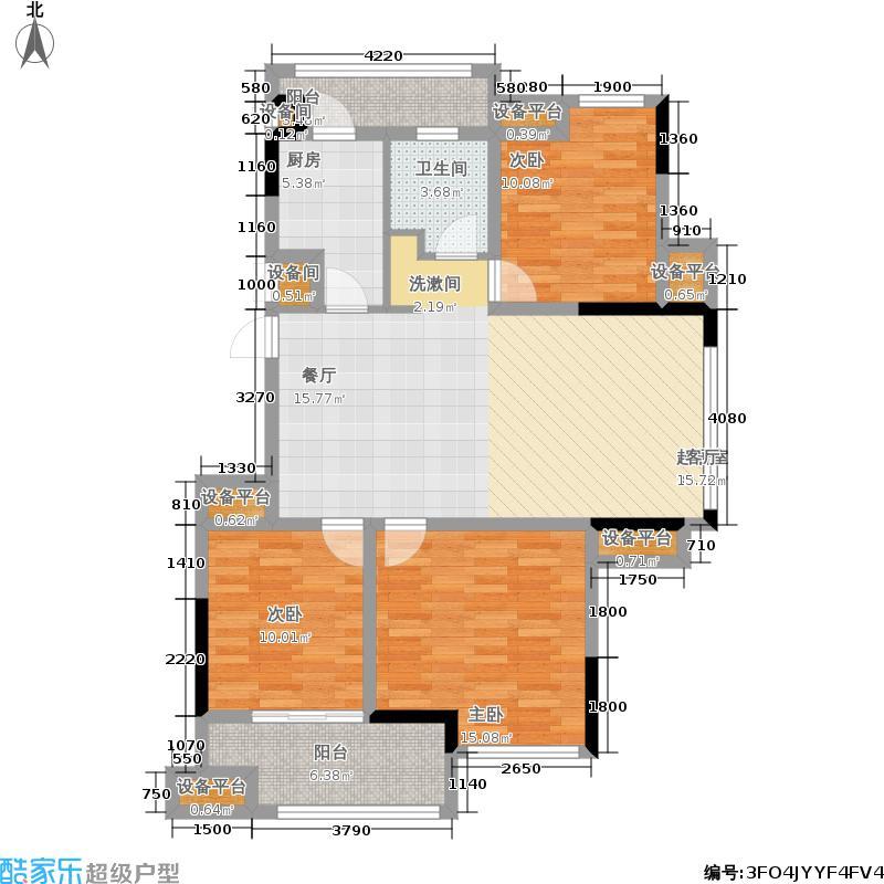 创维乐活城106.00㎡二期11、13号楼标准层B3户型