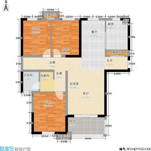 金盛田锦上3室0厅1卫1厨127.00㎡户型图