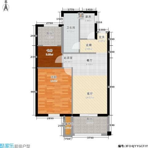 金盛田锦上2室0厅1卫1厨85.00㎡户型图
