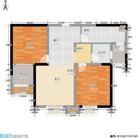 金盛田锦上2室0厅1卫1厨92.00㎡户型图