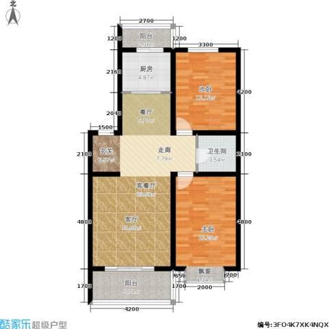 万熹绿景2室1厅1卫1厨103.00㎡户型图