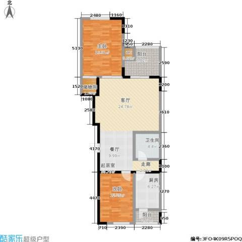 东润名邸2室0厅1卫1厨100.00㎡户型图