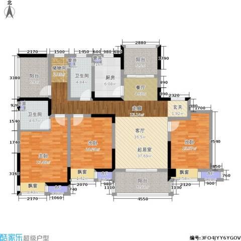 启迪方洲3室0厅2卫1厨141.00㎡户型图