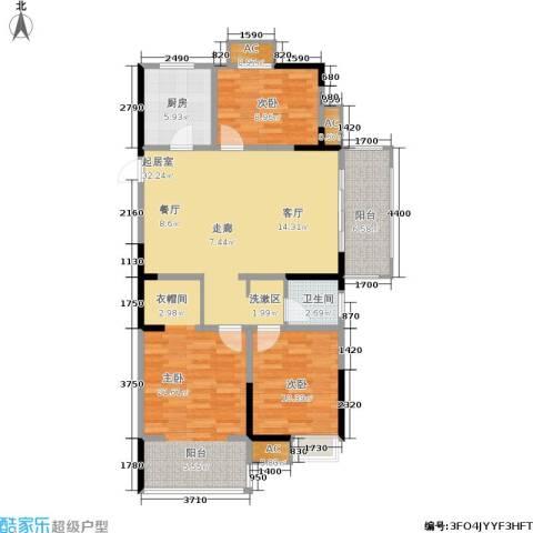 城开新都雅苑3室0厅1卫1厨105.00㎡户型图